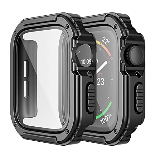 Adepoy 2 Pack Rugged Case Compatible for Apple Watch 44mm Series SE/6/5/4...