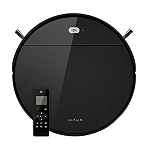 IKOHS NETBOT S12 – Robot Vacuum Cleaner, Robotic Vacuum Cleaner, 1200Pa, Self-Charging, Auto Charge Robotic Vacuum, Cleaning Robot with Anti-Drop and Collision Sensor, Works on Hard Floor to Carpet