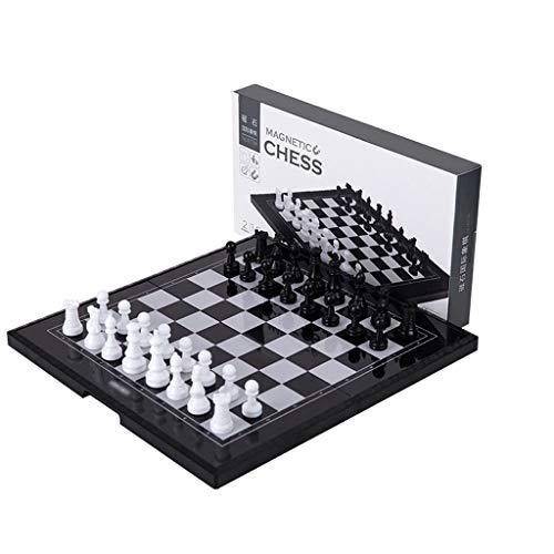 kiter Ajedrez Ajedrez de plástico, Juego de ajedrez magnético de Viaje con Tablero de ajedrez Plegable, Juguetes educativos para cumpleaños Juego de Ajedrez
