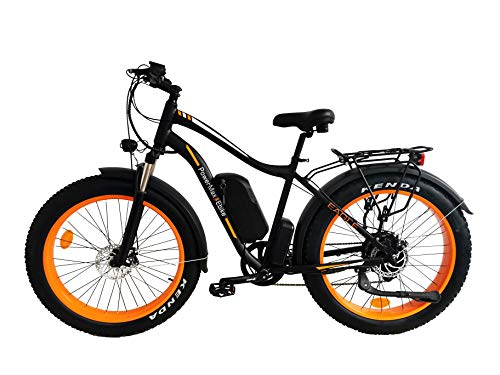 PowerMax Ebike Super Fast 1000W Fat Tire ebike with High Performance 48V Lithium ion Battery. Best ebike for City, Beach and Mountain Adventures. Most Powerful Fat Tire ebike in 2020.
