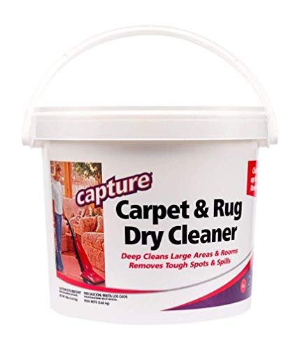 Capture Carpet & Rug Dry Cleaner w/ Resealable lid - Home, Car, Dogs & Cats Pet Carpet Cleaner Solution - Strength Odor Eliminator, Stains Spot Remover, Non Liquid & No Harsh Chemical (8 lb)