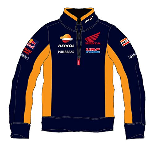 Pritelli Honda Repsol Moto Gp Teamwear Replica Sweatshirt Offizielles Sweatshirt 2018, Blau, Größe L