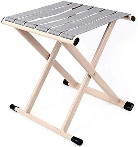 MVNZXL taburete plegable al aire libre camping taburete portátil beige plegable doble forma X silla de pesca al aire libre playa adulto asiento plegable slacker banco