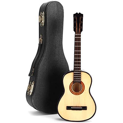 Modelo de guitarra en miniatura, modelo de mini guitarra, modelo de guitarra clásica de madera en miniatura para oficina en casa