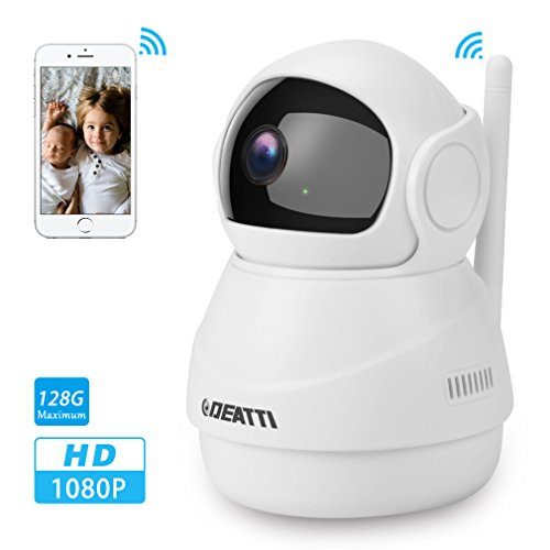 360 Wireless Security Camera 1080P for Home Surveillance with Two Way Audio, Pan Tilt and Phone APP from DEATTI