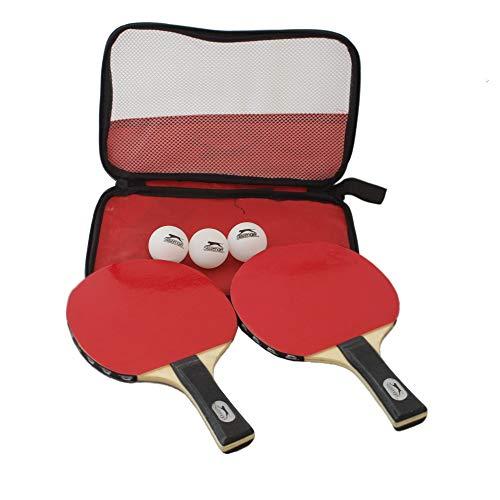 Slazenger 5 TLG Tischtennisschläger, Schläger, Tischtennis, Ping Pong, Tennisset inkl. Tennisbälle und Aufbewahrungstasche