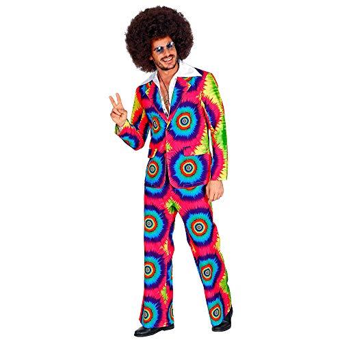 WIDMANN 09333 Groovy Style - Vestito da uomo, anni '70, multicolore, L