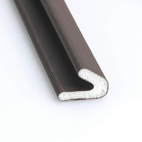 Weather Stripping for Door/Windows X 26 Feet Long, V Shape Adhesive Weather Strip Door Frame/Windows Frame Seal PU Foam Strip Weather Seal Door Insulation Anti Collision Soundproof (0.5 inch Brown)