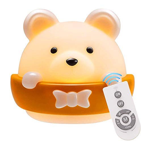 Plartree Kids LED Nachtlicht, USB Wiederaufladbare Tragbare Nachtlichtlampe Babyzimmer Nachtlicht Nettes tierisches Nachtlicht zum Lesen / Schlafen (2W)