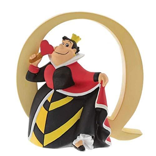 """Enchanting Disney , Figura de Reina de Corazones de """"Alicia en el País de las Maravillas"""" y letra """"Q"""", Para coleccionar, Home Deco, Enesco"""