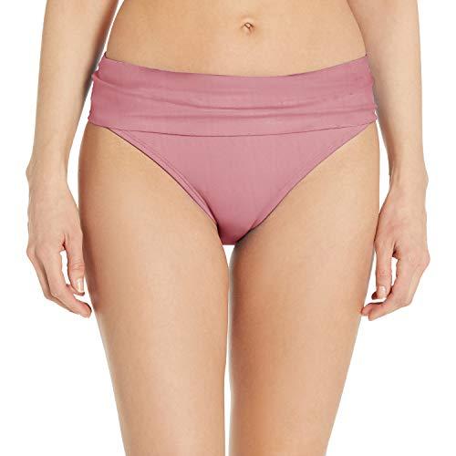 Swim Systems Women's Aloha Banded Bikini Bottom Swimsuit, Mauvelous, Small