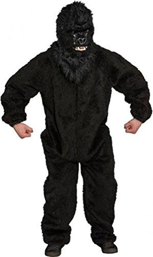 Plüsch-Overall Gorilla, schwarz Einheitsgröße