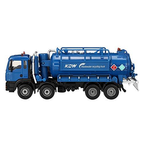 ChaRLes 1:50 Skala Diecast Modell Vakuum Abwasser Abwasser Saugwagen Modell Spielzeug Versand Modell - Blau