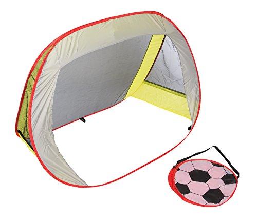 Idena 40463 - Pop Up Fußballtor mit Tragetasche, leichter Transport, ca. 1,3 x 0,96 x 0,8 cm, ideal für Garten, Sportplatz oder Park