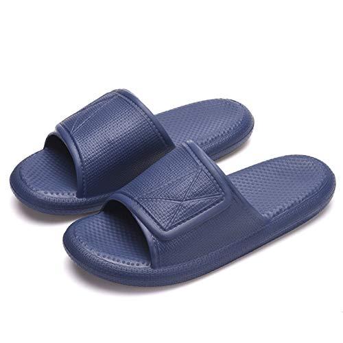 Zapatillas De Pareja De Verano Para Hombres Y Mujeres, Zapatillas Antideslizantes Para El Baño En El Hogar, De Suela Gruesa Y Transpirable Para Exteriores Calzado premamá 42-43 Azul oscuro