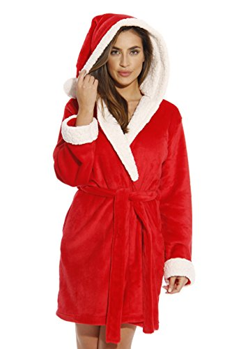 Santa Bath Robe - Sherpa Trim Holiday Robe