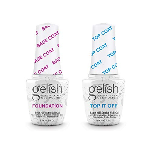 Gelish Dynamic Duo Foundation Base & Top It Off Sealer Soak Off Gel Nail Polish Essential Set