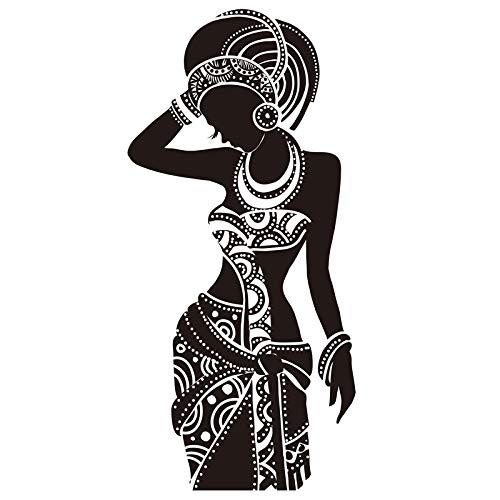 mlpnko Hermosa Mujer Negra Etiqueta de la Pared Vinilo Arte Cartel Etiqueta Mujer Africana Pared calcomanía decoración del hogar 212x318cm