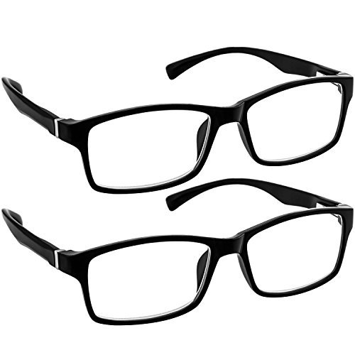 Computer Reading Glasses 1.50 Black 2 Pack Protect Your Eyes Against Eye Strain