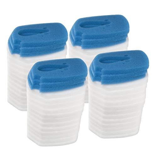 LTWHOME Filterschwamm Passend für Eheim Professional 3 2080/2180 (12 Blau und 48 Weiß)
