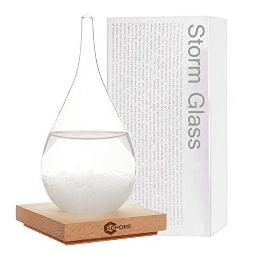 3DHOME Sturmglas Wassertropfen-Art Wettervorhersage kreative Vorhersage nordischer Stil dekorative Glasflasche – L