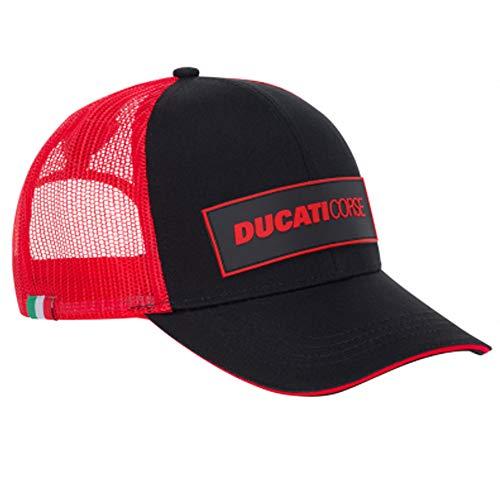 Ducati Corse 2020 Racing Offizielle Team-Kappen in Erwachsenen- und Kindergrößen MotoGP, Schwarz/Rot Trucker Cap, Erwachsene one size