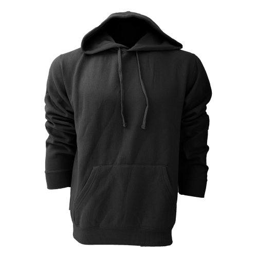 Russell Colour Kapuzenpullover/Kapuzen-Sweatshirt/Hoodie (XL) (Schwarz)