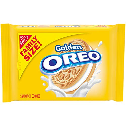 OREO Golden Sandwich Cookies, Family Size, 19.1 oz