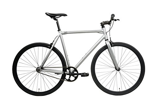 SXL Expressway Urban Track Bike Fixed/Single Speed (Matte Grey, Small)