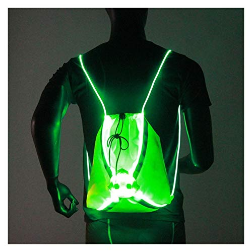 Nuevo LED Ciclismo inalámbrico Bolsa de Bicicleta Seguridad LED de Seguridad Señal de Giro Chaleco Bicicleta Reflective Chaleco Outdoor Night Sport Mochila (Color Name : Fluorescent Yellow)