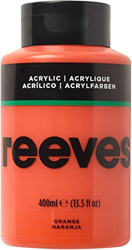 Reeves - Pintura acrílica 400 ml, Naranja