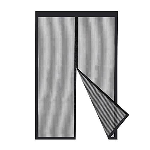 Sekey Cortina Magnética de Puerta a Prueba de Mosquito para Puertas de Madera, Puertas de Aluminio, Puertas Metálicas, Puertas del Balcón, Puertas de RV, Cierre Automático (130x220 cm, Negro)