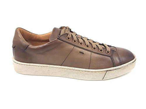 SANTONI MBGU20374PASMGOOE50 Herren-Sneaker MainApps, Braun - Schlamm - Größe: 39 EU