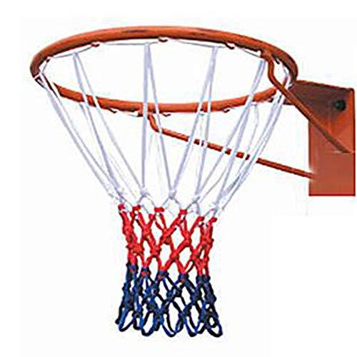 LUNAH Basketballnetz 50cm Zubehör Training Outdoor Sport Felge Langlebiges Ziel Buster Ersatz 12 Schlaufen(Weiß und Rot)