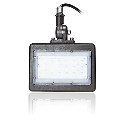 "Bulb Daddy LED Flood Light, 1/2"" Knuckle Mount, 5000K, Waterproof IP65 Rated, UL Listed, Brown"