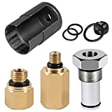 6.0 High Pressure Oil Pump IPR Valve Air Test Fitting Tool, High Pressure Oil Rail Adapters Leak Test Kit and 6.0 IPR Valve Socket with Seal Kit Fit for Ford 6.0L Powerstroke Diesel Engine
