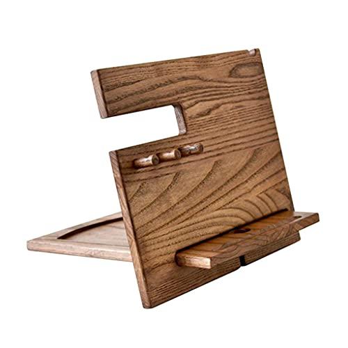 Organizador de escritorio, soporte de madera para teléfono celular, base de madera, organizador de reloj de carga, gran regalo de aniversario para mujeres, hombres y hogares