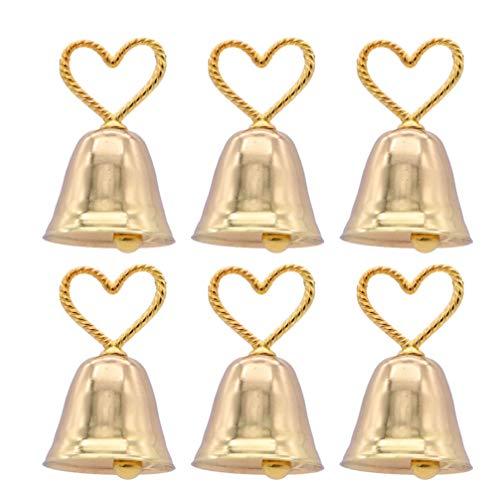 NUOBESTY Porta Memo Campana Sagomata a Caldo Porta Carte Segnaposto Segnaposto Tabella Nozze Porta Nome Numero per Ristoranti Banchetti Matrimonio Confezione da 6 (Dorato)