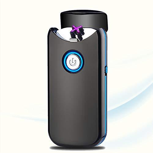 Lighter Encendedor Eléctrico USB Encendedor De Arco De Plasma Recargable Encendedor Sin Llama A Prueba De Viento Encendido Automático De La Tapa para Velas Aromaterapia Camping Barbacoa Y Fuegos,E