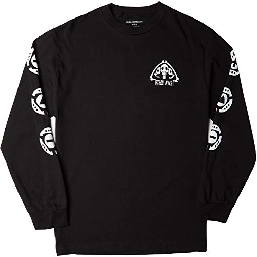 Alien Workshop Skateboards Mens Longsleeve Shirt Bunker Issue Black Size S