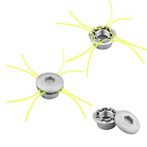 Parluna Cortador de Cepillo de batidor de Cabeza de recortador de malezas de línea de aleación Universal Apto para cortacésped