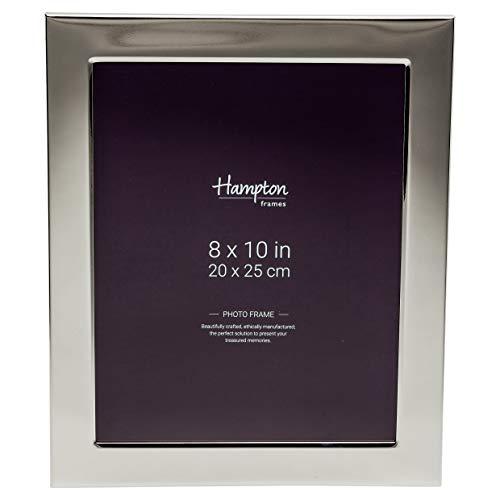 Hampton Frames Woburn Marco de Fotos grabable de 24 mm de Ancho en Placa de Plata, 8x10 (20x25cm) WA7479