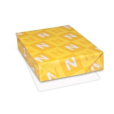Neenah Classic Linen 24 lb 8 1/2 x 11 Inch Solar White Paper 500 Sheets (06051)