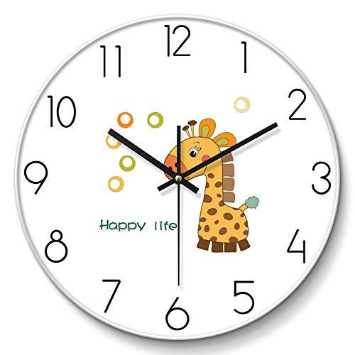 fangsanxi Relojes Creativos Reloj De Pared De Animales Nórdicos Niños Relojes De Silencio De Dibujos Animados Sala De Estar Minimalista Moderna Hogar Creativo