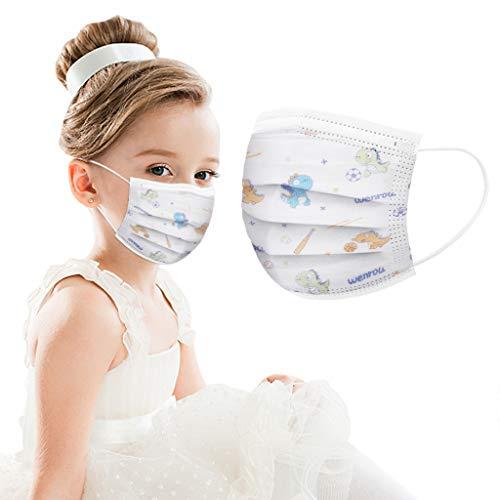 50 Stück Kinder Einmal-Mundschutz, Staubs-chutz Atmungsaktive Mundbedeckung, Erwachsene, Bandana Face-Mouth Cover Sommerschal(Child)