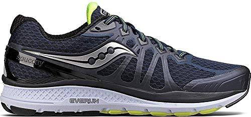Saucony Men's Echelon 6 Running Shoe, Navy Citron, 10.5 M US