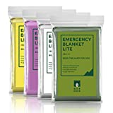 Bearhard Emergency Blanket Space Blankets 4-Pack for Camping Hiking or Outdoor Rescue Foil Thermal Survival Blankets