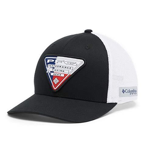 Columbia Unisex PFG Mesh Stateside Ball Cap,Black, Texas Triangle,Large/X-Large,Black/Texas Triangle,Large-X-Large