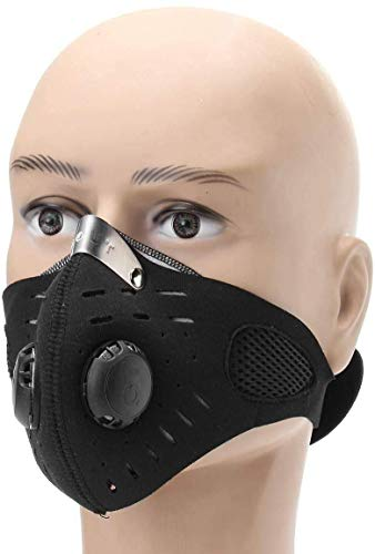 KaruSale Full Face Mask Motorcycle Cycling Anti-dust Windproof Sport (Black)