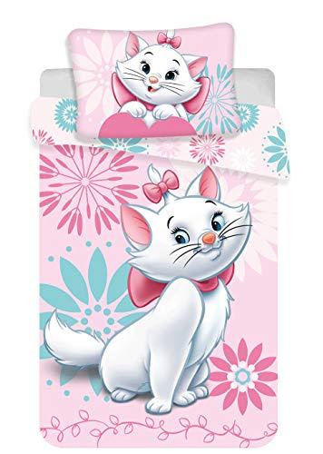 Marie Cat Les Aristogatti - Parure da letto per neonato, copripiumino in cotone